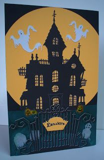 Carol's Creations: Beware - Haunted House card - HDH #111 Lurid and Looming Landscapes