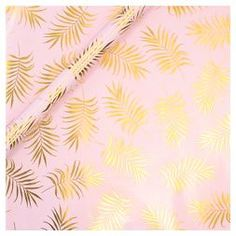 Gold Palm Leaf Gift Wrap - Spritz™