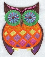 Set of two embroidered fabric quilt blocks by RockyMountainstitch, $8.00