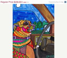 60% Off Today- CHIHUAHUA art dog  Art Print Poster by Heather Galler (HG297)