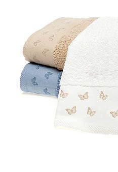 MaryJane's Home Butterfly Embroidered Towel