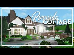 Welcome to Bloxburg: Small Riverside Cottage House Floor Design, Two Story House Design, Unique House Design, Modern Family House, Family House Plans, Home Building Design, Building A House, Style At Home, Riverside Cottage