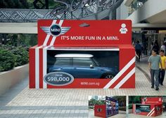 """It's more fun in a Mini"" - Guerilla marketing"