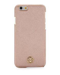 Tory Burch Robinson Saffiano Hardshell iPhone® 6/6s Case, Rose Gold