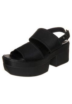 LINDI - Sandały na platformie - black