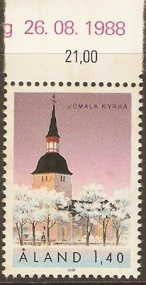 Aland Islands 1988 1m.40 St. Olaf's Church.