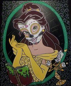 Sugar Skull Disney Belle  ©Kitty OGane (My Art)