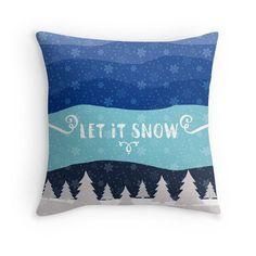 Let it Snow throw pillow case