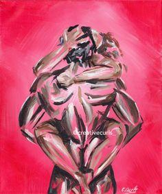 Creative Curls specialises in vibrant, acrylic works of Art. Art Black Love, Black Couple Art, Sexy Black Art, Black Art Painting, Black Artwork, African American Art, African Art, Arte Latina, Exotic Art
