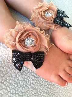 Barefoot Sandals, baby, baby shoes, sandals, barefoot, photo prop, vintage, New born photo prop