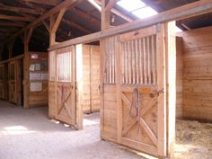 box stall for horses would be perfect calving stalls for cows.