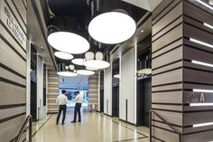 Lift lobby / Lighting design at Shaw Centre Singapore by DP Design
