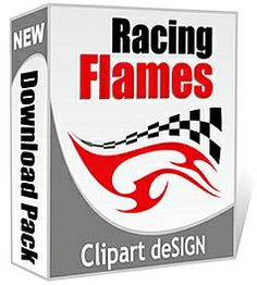 Racing Flames Vector Art Collection – CD/Download; Related topics: clipart design