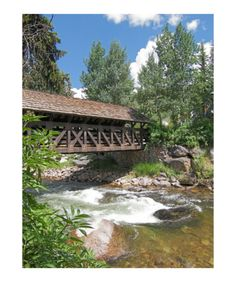 The Covered Bridge is a pedestrian/biking bridge in Vail, Colorado