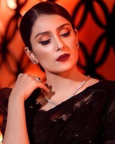 Soft Bridal Makeup, Dramatic Wedding Makeup, Maybelline Lipstick, Makeup Order, Girls Dresses Sewing, Best Actress Award, Vespa Girl, Popular Actresses, Ayeza Khan