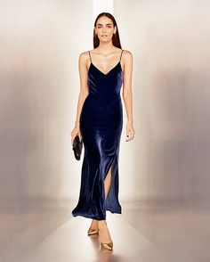 Exclusive for Intermix Addison Velvet Slip Dress | Shop IntermixOnline.com