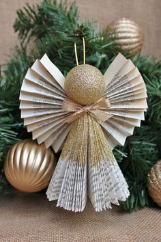 Angel Ornament Christmas Ornament Book Angel by whimsysworkshop