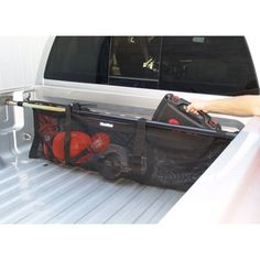Bed Net - Heininger 4021 - Cargo Carriers - Camping World Truck Bed Storage, Truck Bed Organizer, Truck Tool Box, Truck Bed Accessories, Accessories Online, Black Truck, Cargo Net, Camping World, Pickup Trucks