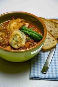 stuttgartcooking: Vegetarisches Linsen-Ragout mit gebackenen Zucchini-Scheiben