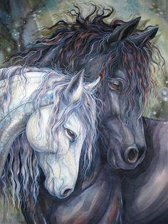 How to Paint a Freisian Horse.