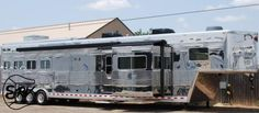 Living Quarter Horse Trailer - 2008 Sundowner Luxury Liner 4 Horse Trailer - EquineRV.com