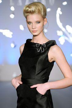 Black cocktail dress by Lazaro, Spring 2012