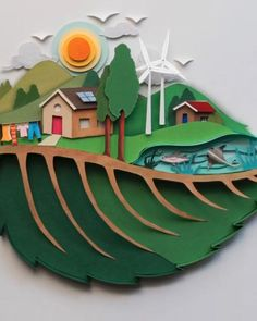 Cut Paper Art, Paper Collage Art, Paper Crafts Origami, Paper Artwork, Decorative Paper Crafts, Cool Paper Crafts, Pop Up Art, Shadow Box Art, Art Drawings For Kids