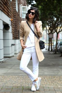 white sneakers outfit ideas 2