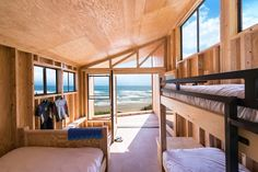 green design, eco design, sustainable design, California State PolyTechnique University of Pomona, The Wedge Cabin, tiny cabins, micro cabin, Cavco Industries, ACX Plywood, off the grid cabin