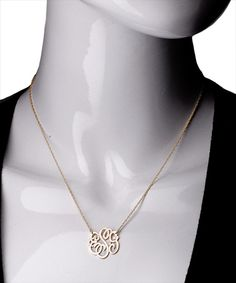 West Avenue Jewelry Small Monogram Necklace - Max & Chloe. But in silver...