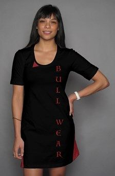 Apliiq.com presents the BULL WEAR LADIES DRESS  t shirt dress $54.00