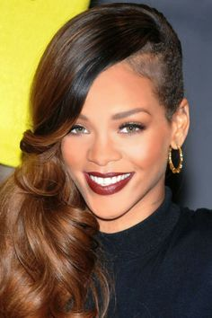 #makeup #rihanna #maquillage #tendance #burgundy #trend