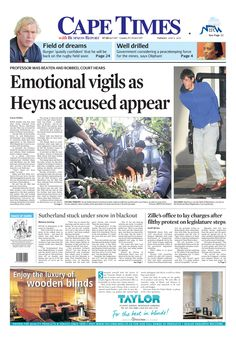 Emotional vigil as Heyns accused appear
