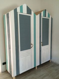 Cabinets for our little girl at our seaside home.