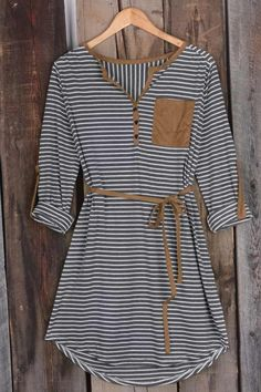 It's All In Your Stripe Suede Dress