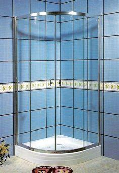 One Piece Corner Shower Stalls MASSAGE WALL PANEL JETS 6 TOP SHOWER TOP L