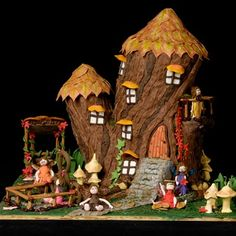 Crooked Gingerbread Tree House