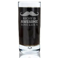 Personalised Moustache Hi Ball Bubble Glass  from Personalised Gifts Shop - ONLY £14.99