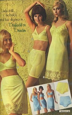 classic jcpenney women in panties - Yahoo Image Search Results Classic Lingerie, Retro Lingerie, Lingerie Set, Nylons, Retro Fashion, Vintage Fashion, Vintage Clothing, Yellow Lingerie, Vintage Underwear