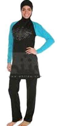 Modest Swimwear: Islamic Swimsuit for Women: Black/Blue