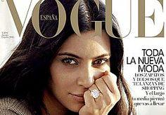 """20-Jul-2015 9:05 - KIM KARDASHIAN PRIJKT 'MAKE-UPLOOS' OP VOGUE ESPAÑA. Kim Kardashian gaat nergens zonder haar glam squad en ziet er dan ook altijd tot in de puntjes verzorgd uit qua make-up. De reality ster heeft wel eens een no make-up selfie op Instagram gedeeld dus we weten hoe ze er ongeveer uitziet zonder maquillage. Nu prijkt de zwangere bombshell op de cover van Vogue España en ze onthult op Instagram dat ze helemaal geen make-up hebben gebruikt voor de shoot. """"Vogue Spain..."""