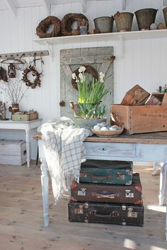 Rustic Kitchen with vintage touches from VIBEKE DESIGN