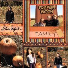Pumpkin Patch, scrapbooking layouts, scrapbook ideas, Fall, Halloween