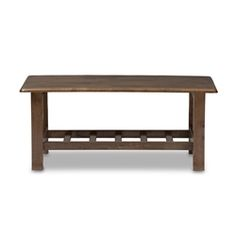 Baxton Studio Charlotte Modern Classic Mission Style Walnut Brown Wood Coffee Table Affordable modern furniture in Chicago, classic living room furniture, modern coffee tables, cheap coffee tables