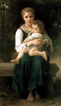 Brother and Sister.  Bouguereau, William Adolphe