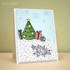 My Impressions: Simon Says Stamp December Card Kit Light Up Christmas Tree!