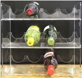 Perspex Range - Wine Rack A (12)36cm x 38cm (FAB0683) - Perkal Gift & Clothing Importers SA - Over