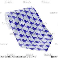 Shop Mulberry Blue Purple Posh Poodle Neck Tie created by LeonOziel. Custom Ties, Unique Image, Business Supplies, Etiquette, Poodle, Night Out, Pattern, Prints, Blue