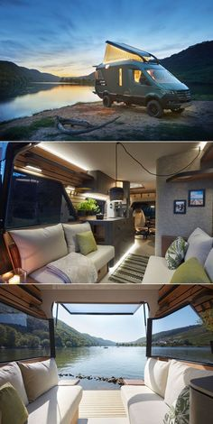 For an adventure vehicle that goes anywhere in style, look no further than VisionVenture. Aire Camping Car, Truck Camping, Van Camping, Van Conversion Interior, Camper Van Conversion Diy, Camper Trailers, Tiny Trailers, Campers, Vintage Trailers
