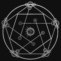 'Reverse Transmutation Circle' T-Shirt by Maja Andreassen – Fullmetal Alchemist Sacred Geometry Symbols, Magic Symbols, Occult Art, Anime Tattoos, Fullmetal Alchemist Brotherhood, Magic Circle, Book Of Shadows, Glyphs, Alchemy